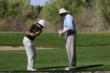 Dave Pelz teaching Randy Blunt at Tubac Golf Resort &amp; Spa